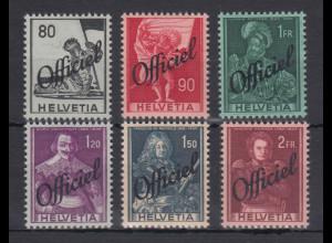 Schweiz Dienstmarken hohe Werte Mi.-Nr. 58-63 **
