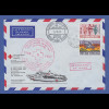 Deutsche Schiffspost Rotes Kreuz Hospitalschiff Helgoland in Vietnam Beleg 1971