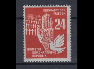 DDR 1951 Erkämpft den Frieden 24 Pfg. Wert auf dünnem Papier, Mi.-Nr. 279 **