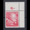 Bundesrepublik 1949 Mi.-Nr. 112 mit Plattenfehler Dorn am First, Mi.-Nr 112 VII