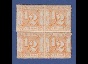 Altdeutschland Thurn und Taxis Mi.-Nr. 37 Viererblock postfrisch **