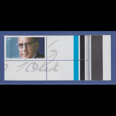 Bundesrepublik 1997 Sondermarke Thomas Dehler mit Leerfeld rechts Mi.-Nr. 1963 L