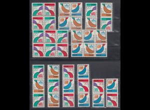 DDR 1962 Weltfestspiele kpl. Zusammendruck-Garnitur 16 Zusammendrucke **