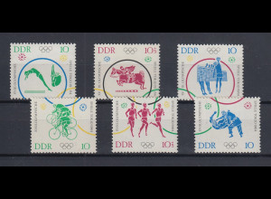 DDR 1964 Olympiade Tokio Mi.-Nr. 1039-1044 Einzelmarken **