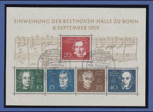 Bundesrepublik 1959, Beethovenblock, Mi.-Nr. Block 2 mit Ersttagsstempel BERLIN