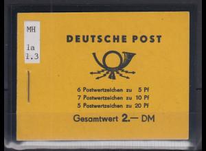 DDR 5-Jahresplan Markenheftchen Mi.-Nr. MH 1a 1.3 **