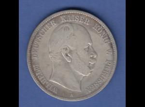 Deutsches Kaiserreich Preußen König Wilhelm I. Silbermünze 5 Mark 1874 A ss