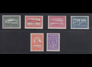 Jugoslawien 1932 Ruder-Europameisterschaften Mi.-Nr. 243-48 kpl. Satz postfrisch