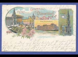 AK Gruß aus Düsseldorf, 1903 gel. innerhalb Düsseldorfs.