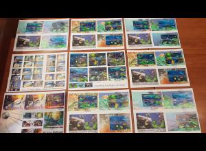 UNO Wien Genf New York insgesamt 38 großformatiige Triple-Briefe aus 1997-2013