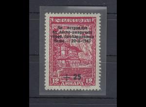 Dt. Besetzung 2.WK Serbien Bombengeschädigte Mi.-Nr. 106 PLF I Buchstabe fehlt !