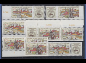 DDR 1986 Ausstellung Berlin Mi.-Nr. 3030-31 kpl. Garnitur 6 Zusammendrucke **