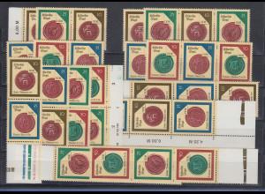 DDR 1988 Histor. Siegel Mi.-Nr. 3156-59 kpl. Garnitur 16 Zusammendrucke **