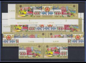 DDR 1988 Frankfurt / Oder Mi.-Nr. 3168-69 kpl. Garnitur 6 Zusammendrucke **