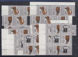 DDR 1989 Telefone Mi.-Nr. 3226-29 kpl. Garnitur 16 Zusammendrucke **