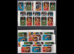 DDR 1985 Zirkuskunst Mi.-Nr. 2983-2986 kpl. Garnitur 16 Zusammendrucke **
