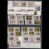DDR 1990 Posthausschilder Mi.-Nr. 3306-09 kpl. Garnitur 16 Zusammendrucke **