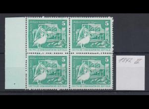 DDR Freimarke 5 Pfg seltene Type Mi.-Nr. 1842 II Viererblock mit linkem Rand **