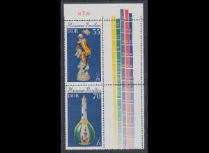 DDR 1979 Meissener Porzellan Zusammendruck mit Leerfeldern Mi.-Nr. S Zd 195 L **