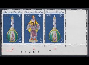 DDR 1979 Meissener Porzellan Zusammendruck mit Leerfeld Mi.-Nr. W Zd 438 L **