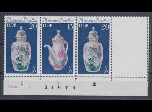 DDR 1979 Meissener Porzellan Zusammendruck mit Leerfeld Mi.-Nr. W Zd 430 L **
