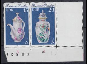 DDR 1979 Meissener Porzellan Zusammendruck mit Leerfeld Mi.-Nr. W Zd 427 L **