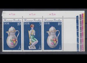DDR 1979 Meissener Porzellan Zusammendruck mit Leerfeld Mi.-Nr. W Zd 426 L **