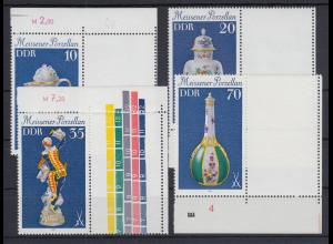 DDR 1979 Meissener Porzellan 4 Werte mit Leerfeld rechts **