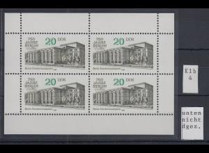 DDR 1987 750 Jahre Berlin Kleinbogen Mi.-Nr. 3078 unten NICHT durchgezähnt !