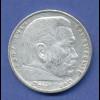 5-Reichsmark-Silbermünze Paul von Hindenburg 1935 A ..