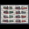 DDR 1980-1984 Schmalspurbahnen insgesamt 16 Einzelwerte komplett **