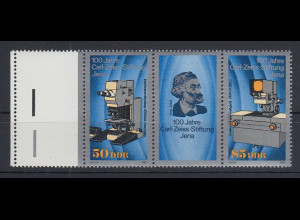 DDR 1989 Karl Zeiss Mi.-Nr. 3252-53 Zusammendruck mit Leerfeld links **