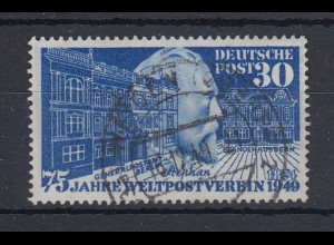 Bundesrepublik 1949 UPU Stephan Mi.-Nr. 116 fast zentrisch O WEIDEN 16.12.49