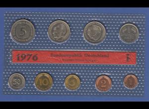 Bundesrepublik DM-Kursmünzensatz 1976 F stempelglanz
