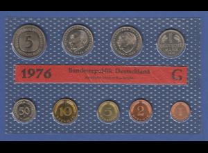 Bundesrepublik DM-Kursmünzensatz 1976 G stempelglanz