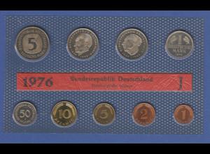 Bundesrepublik DM-Kursmünzensatz 1976 J stempelglanz