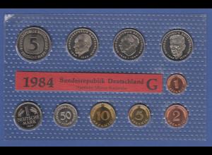 Bundesrepublik DM-Kursmünzensatz 1984 G stempelglanz