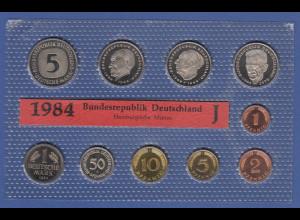 Bundesrepublik DM-Kursmünzensatz 1984 J stempelglanz