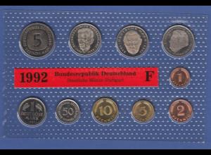 Bundesrepublik DM-Kursmünzensatz 1992 F stempelglanz
