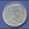 5-Reichsmark-Silbermünze Paul von Hindenburg 1936 A ....