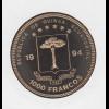 Equatorial-Guinea Münze 1000Fr. 1994 25 Jahre Mondlandung in Numisbrief