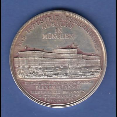 Bayern München Gebäude Gewerbeauusstellung 1854 edle Silbermedaille, 24g , 40mm