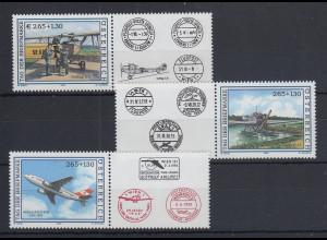 Österreich Tag der Briefmarke Luftfahrt 2004 - 2006 3 Werte mit Zierfeld **