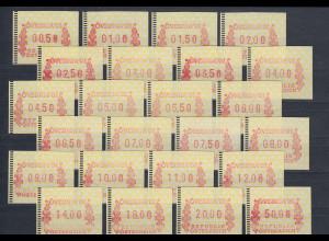 Österreich FRAMA-ATM ÖVEBRIA 2001 Mi.-Nr. 5 großer Satz 24 Werte 00,50-50,00 **