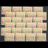 Österreich FRAMA-ATM ÖVEBRIA 2001 Mi.-Nr. 5 großer Satz 24 Werte 00,50-50,00 O