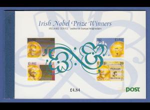 Irland 1994 Prestige-Markenheftchen Nobelpreisträger Mi.-Nr. MH 27 **