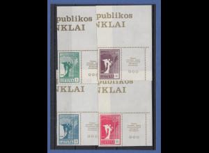 Litauen 1990 Freimarken Friedensengel 5-50K Mi.-Nr. 461-464 Eckrandstücke **