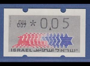 Israel Klüssendorf ATM Dauerausgabe 1.Papier, mit Aut.-Nr. 007 , Mi.-Nr. 3.1.7