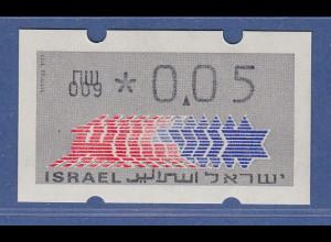 Israel Klüssendorf ATM Dauerausgabe 1.Papier, mit Aut.-Nr. 009 , Mi.-Nr. 3.1.9