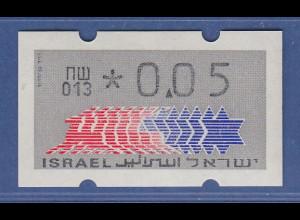 Israel Klüssendorf ATM Dauerausgabe 1.Papier, mit Aut.-Nr. 013 , Mi.-Nr. 3.1.13